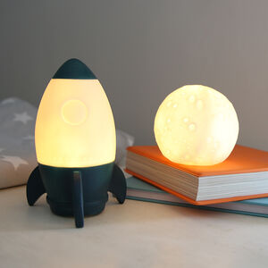 Children's Rocket And Moon Night Lights