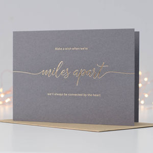 Make A Wish When Miles Apart Card - leaving cards