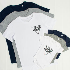 'Legend' Father And Son T Shirt And Babygrow Set