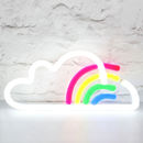 Cloud And Rainbow Neon Light Up LED Sign
