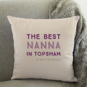 Best In… Personalised Cushion