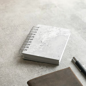 Concrete Veneer Covered Notebook