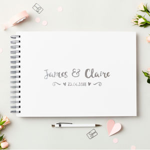 Personalised Names Wedding Guest Book - albums & guest books