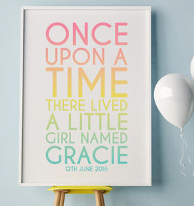 Once Upon A Time There Lived A Little Girl Named… - new in prints & art