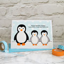 'Penguins' Christmas Or Birthday Card From Children