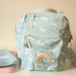 Modern Design Rabbit Backpack Blue