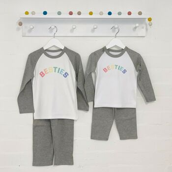 Rainbow Besties Matching Pj Set