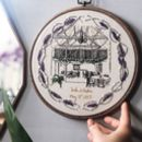 Personalised Hand Embroidered Wedding Venue Portrait