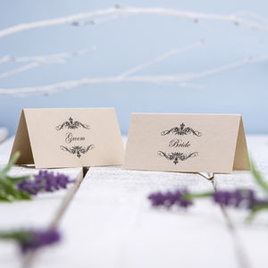 Place Cards Classic Swirl - wedding stationery