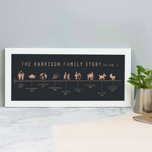 Personalised Family Story Print - family & home