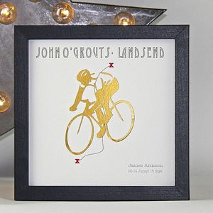 I Like To Ride My Bicycle Personalise Framed Print