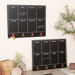 Personalised Back To School Copper Clips Chalkboard