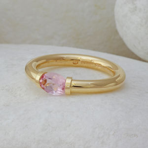 Morganite Ring In Nine Carat Gold - rings