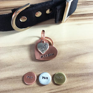 Heart And Charm Dog ID Tag - new in pets