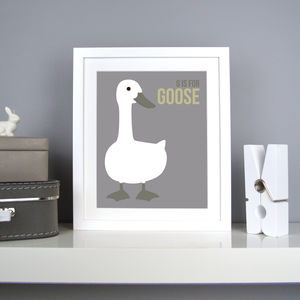 Personalised Goose Nursery Print