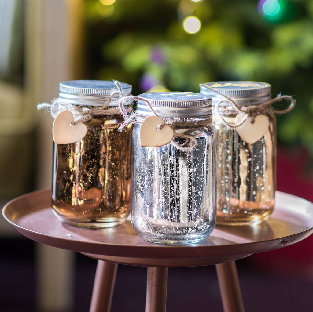 Silver Bronze Champagne Led Jars