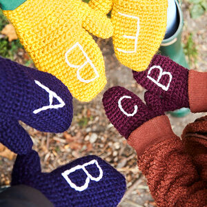 Personalised Family Mittens