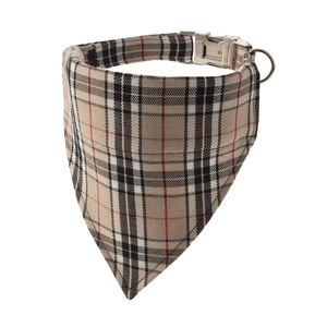 Biscuit Plaid Bandana Dog Collar - dog clothes & accessories