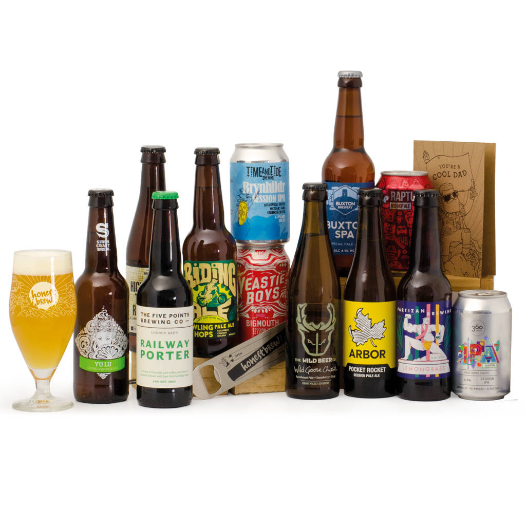 Father's Day 12 Craft Beers, Glass And Bar Blade Case