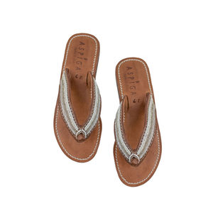 Aspiga Tanzi White Soft Sole Flip Flop - shoes