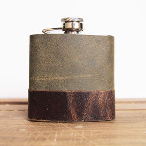 Leather Personalised Hip Flask