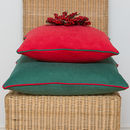 Piped Christmas Cushions