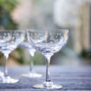Set Of Six Star Champagne Saucers