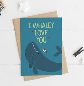 Funny Whale Love / Anniversary / Valentines Card