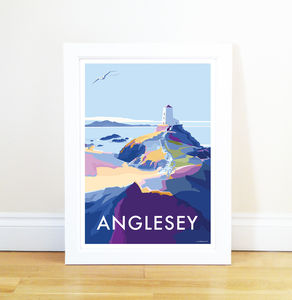 Anglesey Vintage Style Seaside Poster
