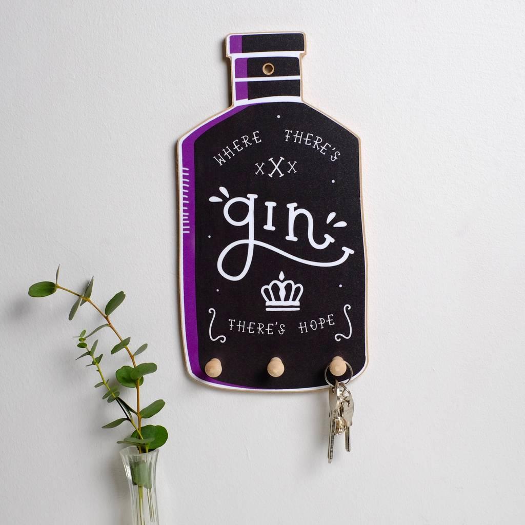 Gin Bottle Key Holder