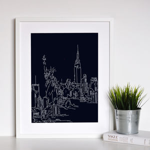 New York Landmark Framed Print - maps & locations