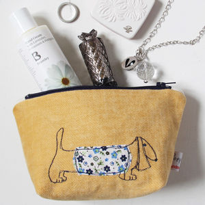 Dachshund Make Up Bag - make-up & wash bags