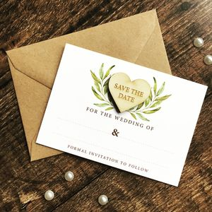 Save The Date Laurel Cards - what's new