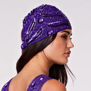 Hollywood Flapper Turban In Purple