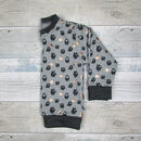 Black and Grey Children's Sweater with Copper Foil Stars by Milly O