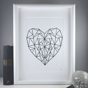 Geometric Heart Print | Housewarming Gift - modern & abstract