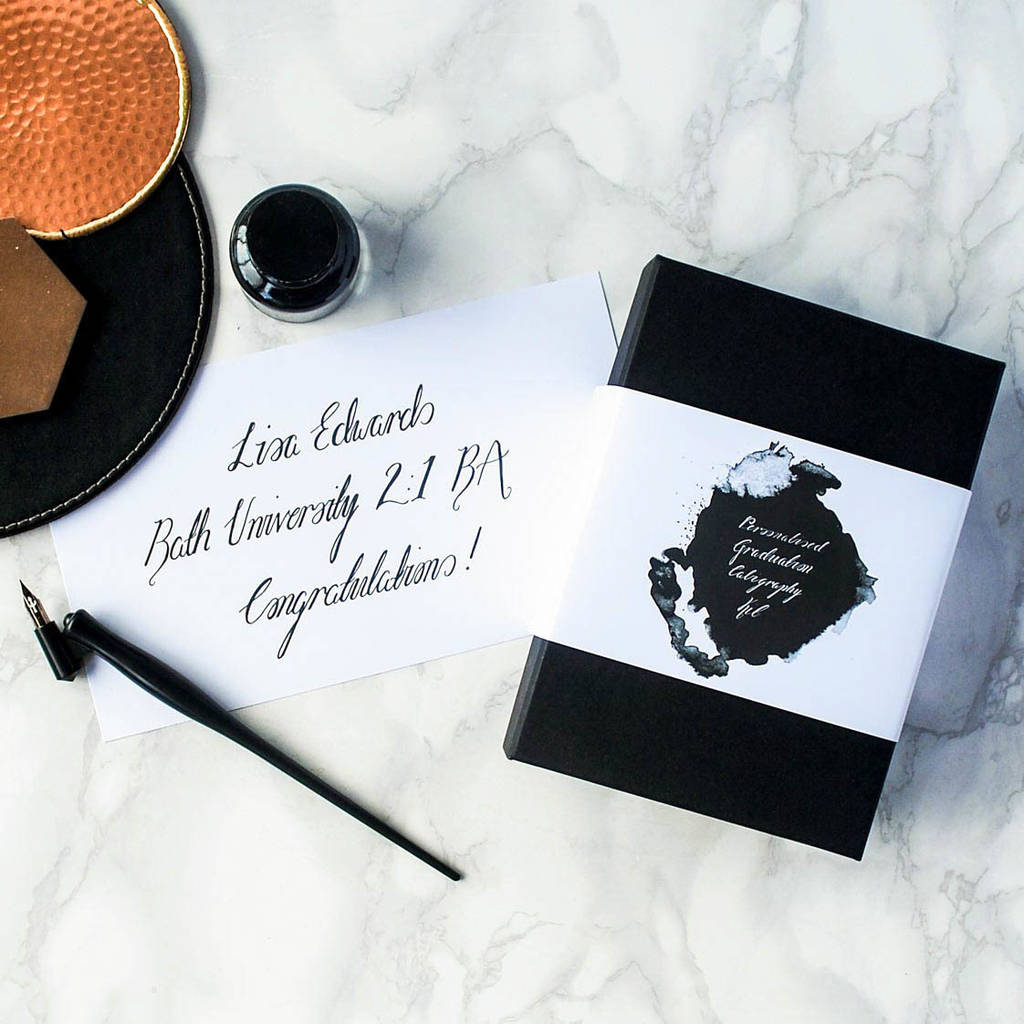 Personalised Graduation Calligraphy Set