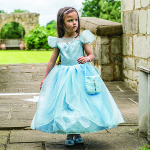 Girl's Blue Shimmer Princess Dress