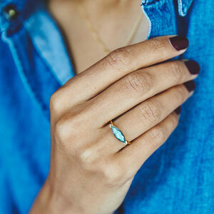 Fearne X Carrie Stacking Ring In Labradorite