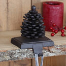 Pine Cone Cast Iron Christmas Stocking Holder