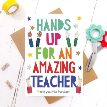 Amazing Teacher Funny Thank You Card