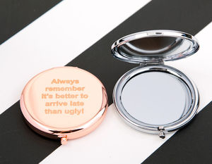 Slogan Compact Mirror - new in health & beauty