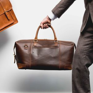 Leather Holdall Weekender 'Aviator' - men's accessories