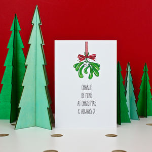 Mistletoe Love Christmas Card