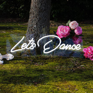 Lets Dance LED Neon Light Up Sign - room decorations