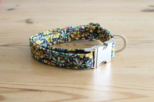 Emma Liberty Fabric Dog Collar - dog collars