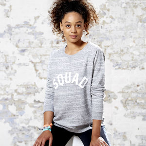Squad Gym Organic Cotton Blend Sweatshirt - new gifts for her