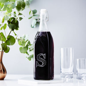 Personalised Initial Glass Bottle
