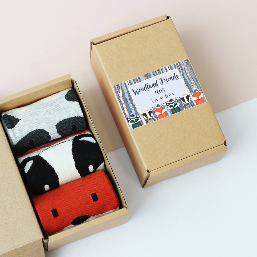 Woodland Friends Socks In A Box
