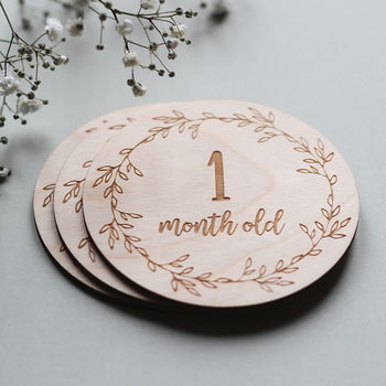 Wooden Baby Milestone Cards